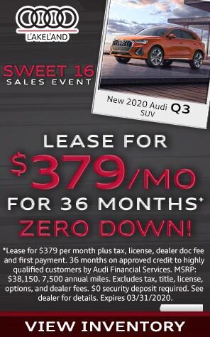 New 2020 Audi Q3 Lease Specials at Audi Lakeland