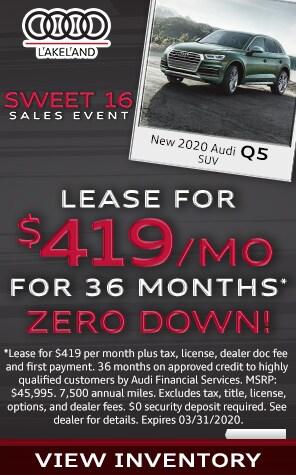 New 2020 Audi Q5 Lease Specials at Audi Lakeland