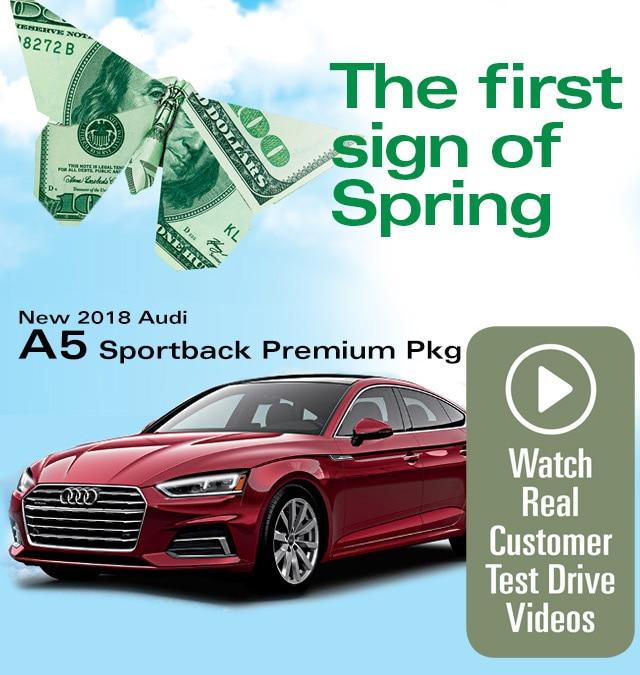 Audi Lynbrook Home: Audi A5 Sportback Premium Package Lease Special
