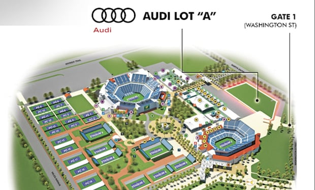 Audi preferred parking at BNP Paribas Open