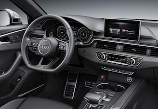 Cabin of the 2018 Audi S4
