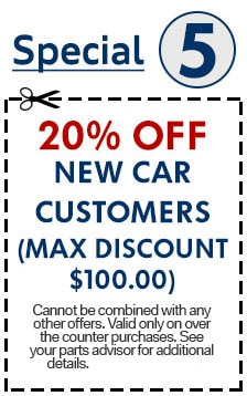 20% Off New Car Customers