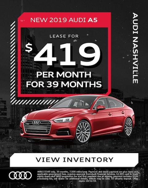 2019 Audi A5 Lease Specials