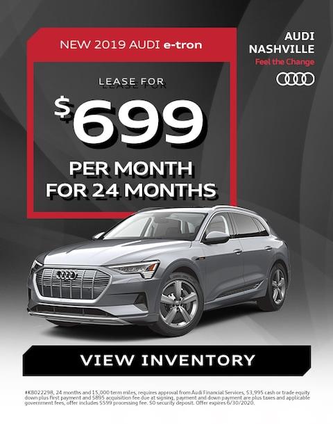 2019 Audi e-tron Lease Specials