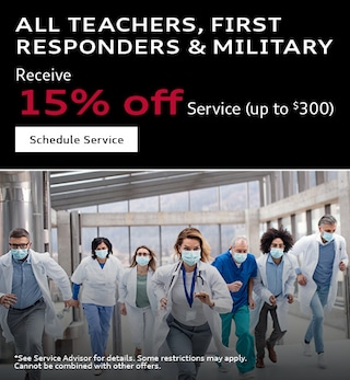 Teachers, First Responder, Military 15% Service