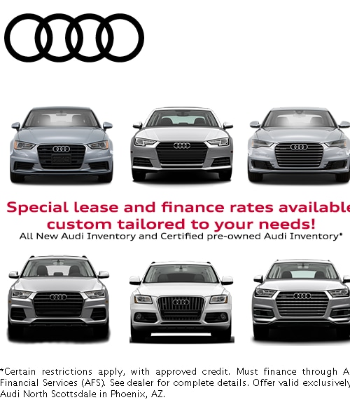 Audi Financial Services >> Audi Finance Specials At Audi North Scottsdale Serving