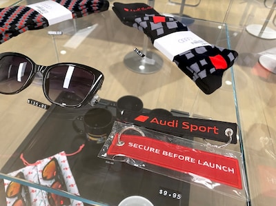 Audi boutique Items in stock