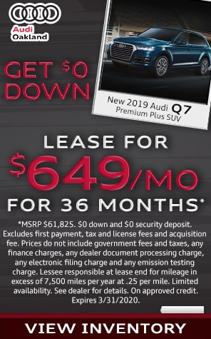 New 2019 Audi Q7 Lease Specials at Audi Oakland