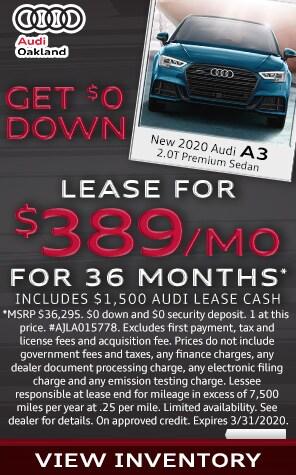 New 2020 Audi A3 Lease Specials at Audi Oakland