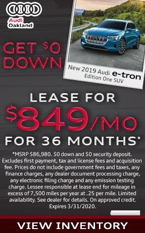 New 2019 Audi e-tron Lease Specials at Audi Oakland