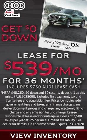 New 2020 Audi Q5 Lease Specials at Audi Oakland