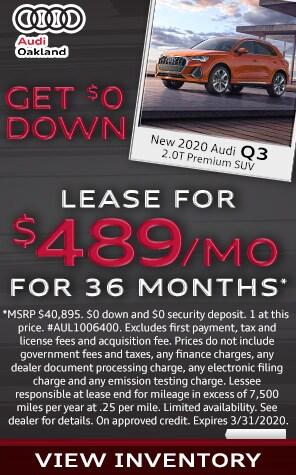 New 2020 Audi Q3  Lease Specials at Audi Oakland