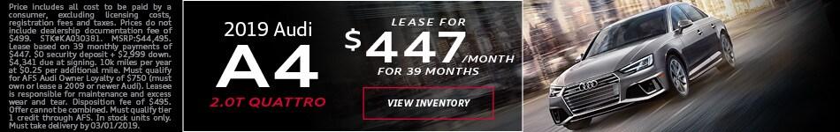 2019 Audi A4 Feb