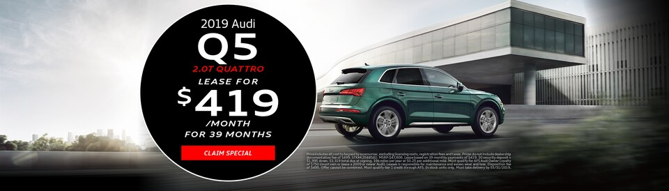 2019 Audi Q5 March Offer