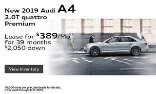 New 2019 Audi A4 2.0T quattro Premium