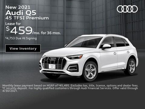New 2021 Audi Q5 45 TFSI Premium - April Special.