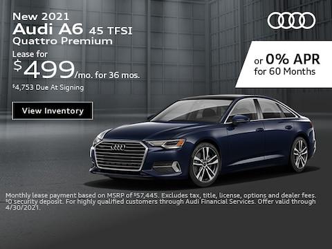 New 2021 Audi A6 45 TFSI Quattro Premium - April Special