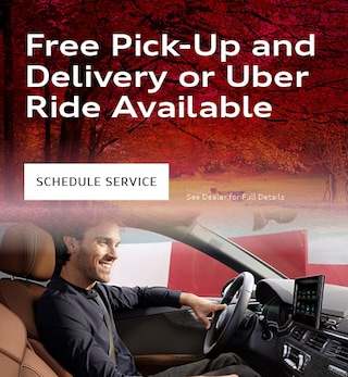 Free Pick-Up and Delivery or Uber Ride Available