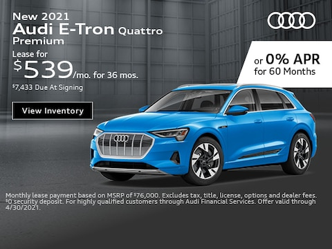 New 2021 Audi E-Tron Quattro Premium - April