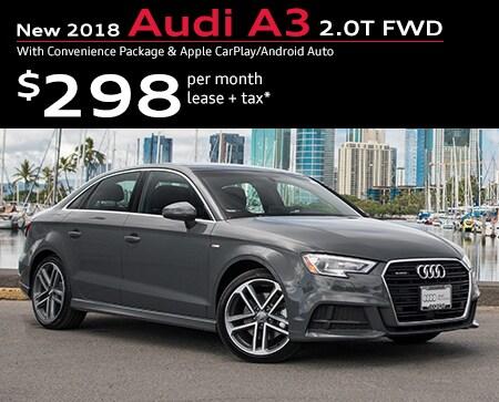 Audi New Car Specials For Sale Honolulu HI - Audi a3 lease offers