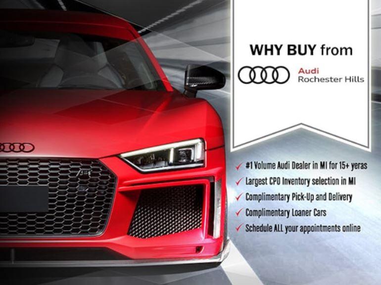 Audi Of Rochester Hills New Audi Dealership In Rochester Hills - Audi car lot