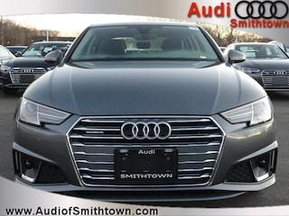 New 2019 Audi A4 2.0T Premium Sedan WAUDNAF4XKN001727 near Smithtown, NY