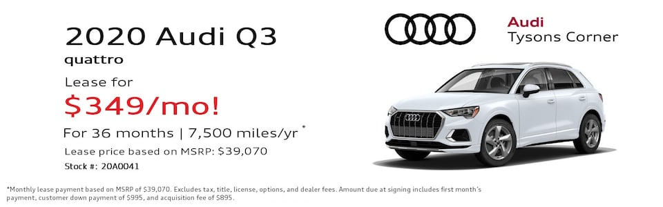 2020 Audi Q3 45 Premium Special Lease*