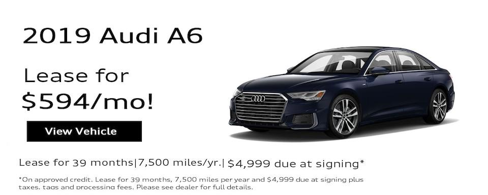 2019 Audi A6 Sedan 3.0T quattro Premium Special Lease*