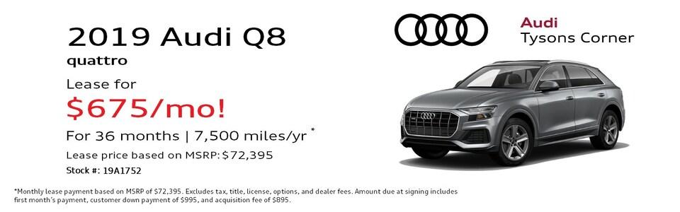 2019 Audi Q8 3.0T quattro Premium Special Lease*