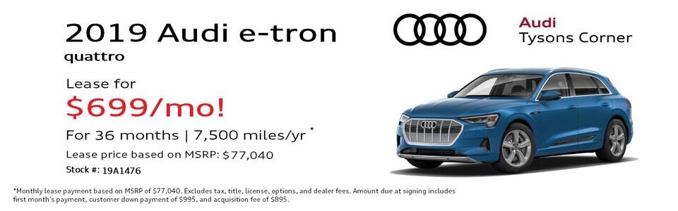 2019 Audi e-tron quattro Premium Plus Special Lease*