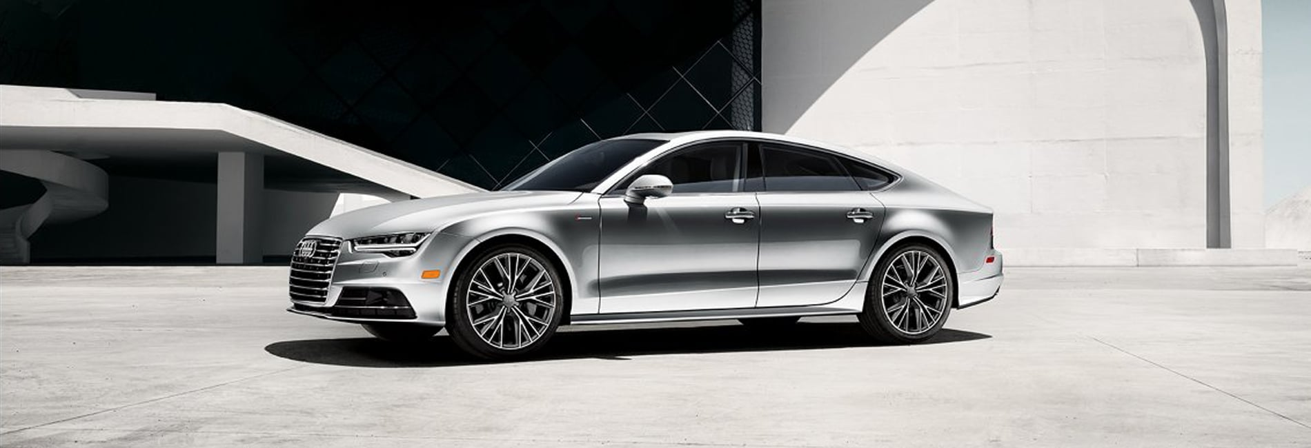 New Audi A7 Red Exterior Off Road