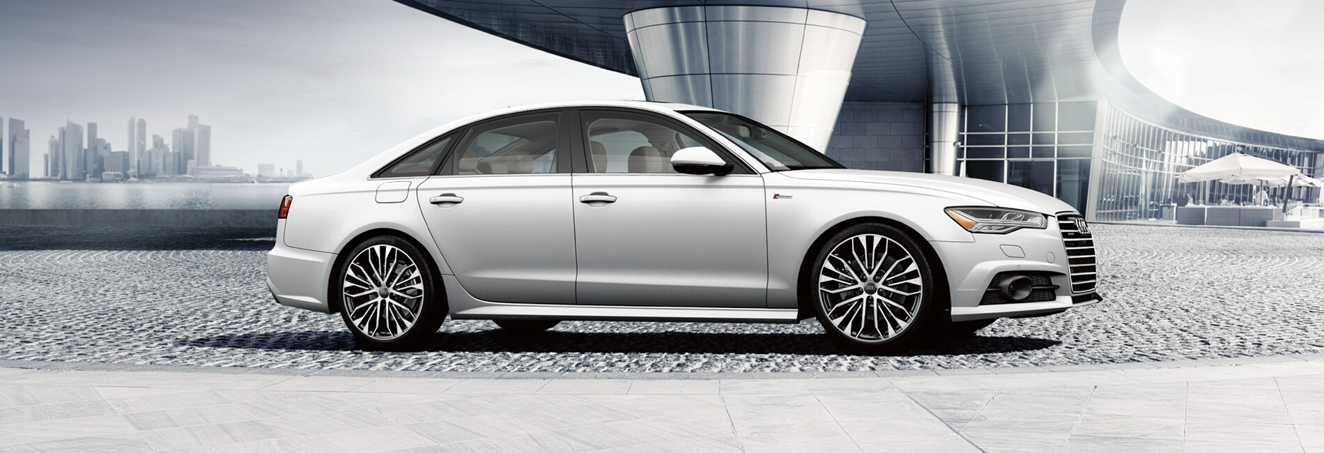 New Audi A6 Red Exterior Off Road