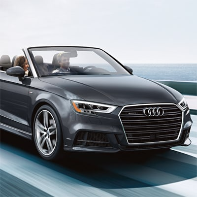 Audi A3 Cabriolet with Top Down