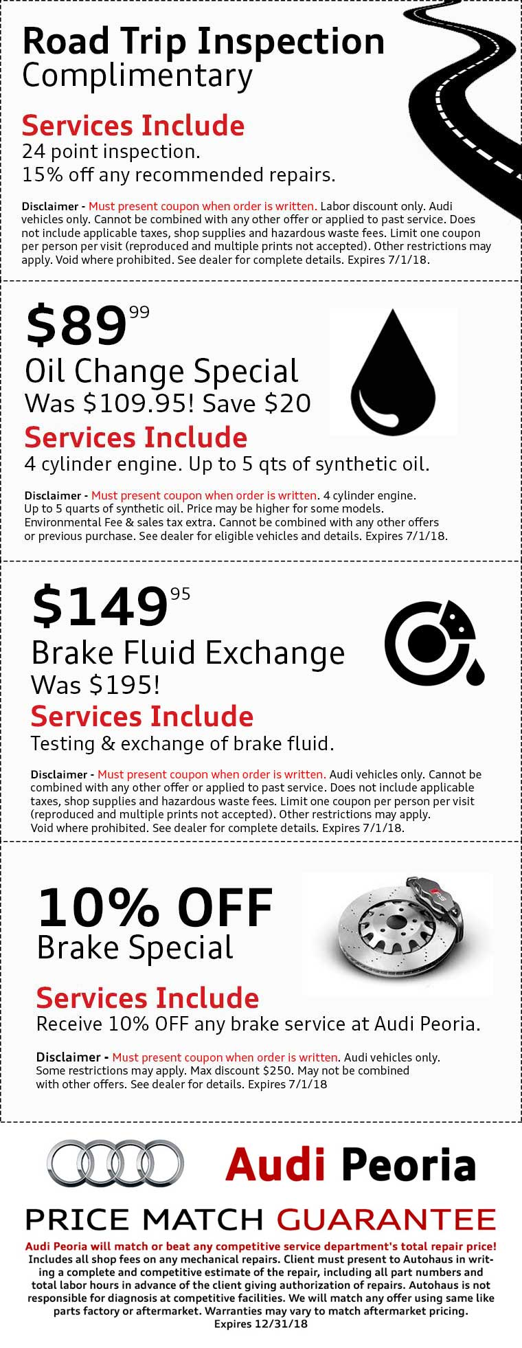 service offers audi htm coupon washington pa specials dealership pittsburgh change oil new in