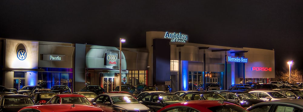 Photo Of Chicago, IL New Audi Dealer At Night - Audi Peoria