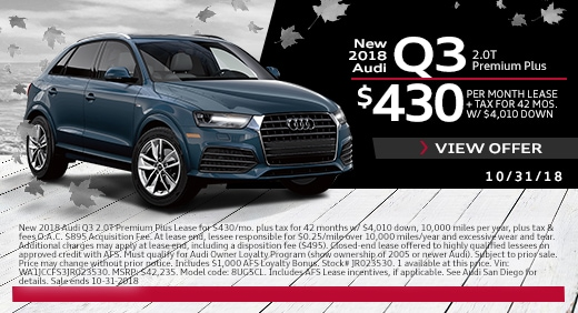 New Audi Lease Specials Exclusive Offers And Deals At Audi San Diego - Audi a7 lease