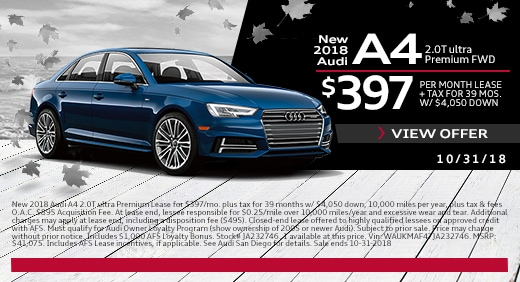 New Audi Lease Specials Exclusive Offers And Deals At Audi San Diego - Audi offers