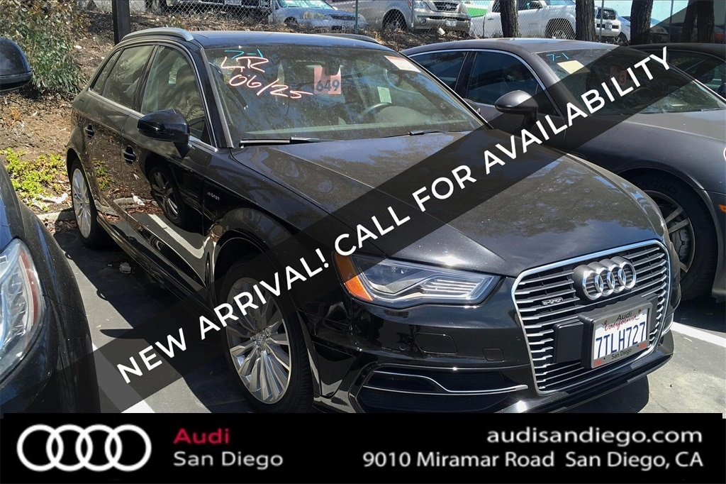 Used 2016 Audi A3 E Tron For Sale At Audi San Diego Vin