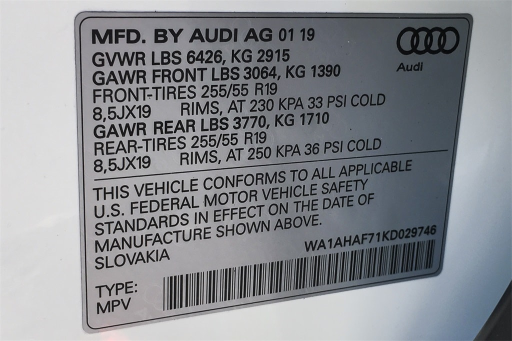 New 2019 Audi Q7 For Sale at Audi San Diego   VIN