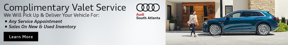 Audi South Atlanta Complimentary Valet Service