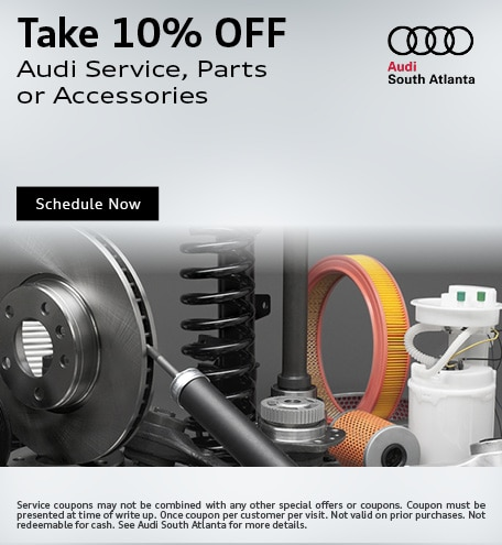 Take 10% Off Audi Parts or Accessories