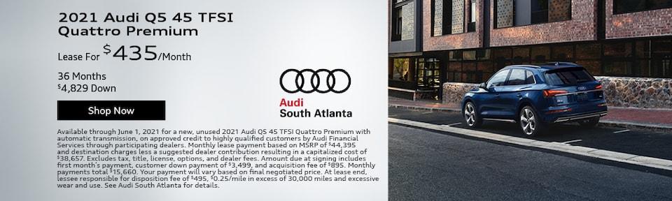 2021 Audi Q5 45 TFSI Quattro Premium | May