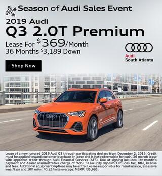 New 2019 Audi Q3 2.0T Premium - November Special