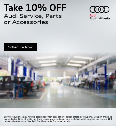 Take 10% Off Audi Service