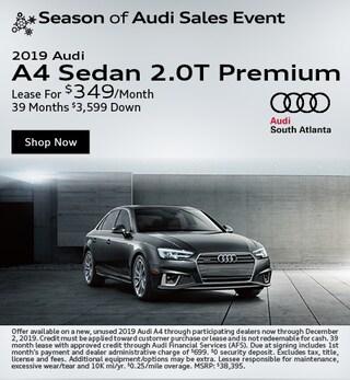 New 2019 Audi A4 2.0T Premium -November Special