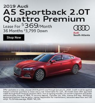 2019 A5 Sportback 2.0T Quattro Premium