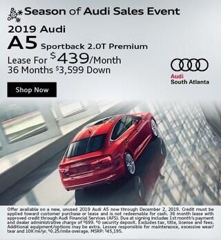New 2019 Audi A5 Sportback 2.0t Premium - November Special