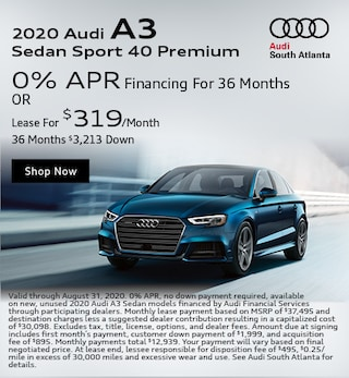 2020 Audi A3 August Special