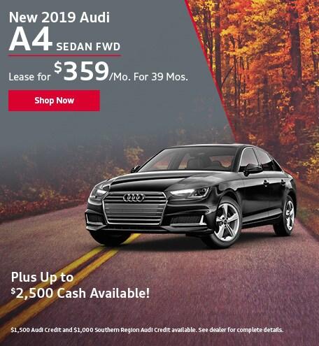 New 2019 Audi A4 Sedan