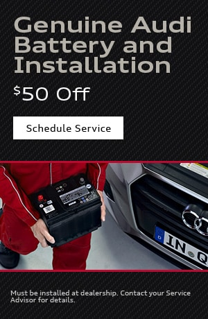 Genuine Audi Battery and Installation